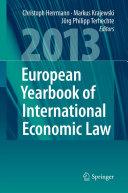 European Yearbook of International Economic Law 2013