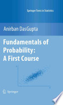 Fundamentals of Probability  A First Course