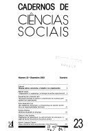 Cadernos de ciências sociais