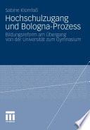 Hochschulzugang und Bologna-Prozess