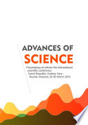 Advances Of Science Proceedings Of Articles The International Scientific Conference Czech Republic Karlovy Vary Russia Moscow 29 30 March 2016