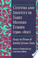 Culture and Identity in Early Modern Europe  1500 1800