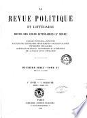 La Revue politique et litteraire revue des cours litteraires