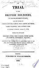 The Trial of the British Soldiers  of the 29th Regiment of Foot
