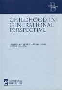 Childhood in Generational Perspective