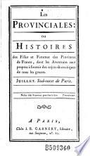 Les Provinciales   ou Histoires des filles et femmes des provinces de France     par R  tif de La Bretonne