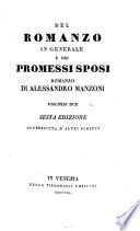 Del romanzo in generale e dei promessi sposi, romanzo di Alessandro Manzoni, discorsi due