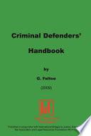 Criminal Defender s Handbook