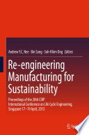 Re engineering Manufacturing for Sustainability