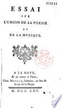 illustration du livre Essai sur l'union de la poésie et de la musique