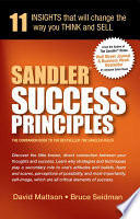 Sandler Success Principles 11 Insights that will change the way you THINK and SELL