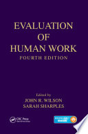 Evaluation of Human Work  Fourth Edition
