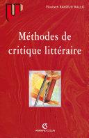 Méthodes de critique littéraire