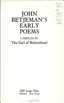 John Betjeman s Early Poems