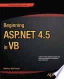 Beginning ASP NET 4 5 in VB