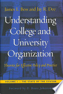 Understanding College and University Organization: The state of the system
