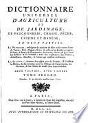 illustration Dictionnaire universel d'agriculture et de jardinage
