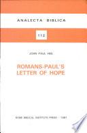 Romans--Paul's Letter of Hope