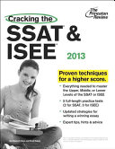 Cracking the SSAT   ISEE 2013