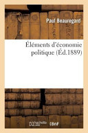 Elements D'Economie Politique
