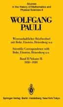 Scientific correspondence with Bohr, Einstein, Heisenberg a. o
