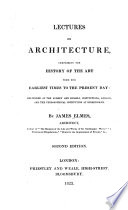 Lectures on architecture