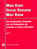 What Every Special Educator Must Know