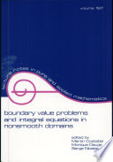 Boundary Value Problems and Integral Equations in Nonsmooth Domains