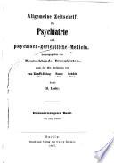 Allgemeine Zeitschrift für Psychiatrie und psychisch-gerichtliche Medizin