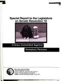 Special Report to the Legislature on Senate Resolution 18