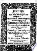 Leichpredigt uber den 128. Psalm ..., beym begräbnis ... Hartmann Schachers, Handelsmanns zu Leipzig