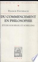 illustration du livre Du commencement en philosophie