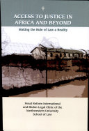 Access to Justice in Africa and Beyond