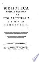 Biblioteca antica e moderna di storia letteraria