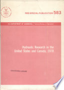 Hydraulic Research In The United States And Canada book