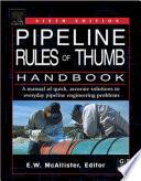 Pipeline Rules of Thumb Handbook