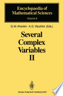 Several Complex Variables II