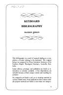 Keyboard Bibliography