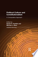 Political Culture and Constitutionalism  A Comparative Approach