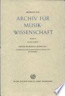 Archiv Fur Musik Wissenschaft