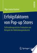 Erfolgsfaktoren von Pop up Stores