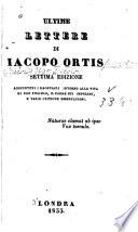 Ultime lettere di Iacopo Ortis