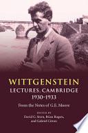 Wittgenstein  Lectures  Cambridge 1930   1933