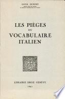 Les pièges du vocabulaire italien