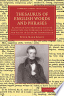 Thesaurus Of English Words And Phrases : edition of his most famous work in...
