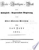 Kreis-Intelligenzblatt der königlich-Bayerischen Regierung des Ober-Donau-Kreises für ...