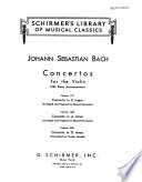 Concerto in A minor for the violin with piano accompaniment