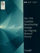Strat  gie Canadienne en Mati  re de Biotechnologie  1998