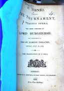 Il Torneo  the Tournament  A serious opera     performed at the St  James s Theatre     The translation by F  Doca  Ital    Eng