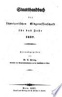 Staatshandbuch der schweizerischen Eidgenossenschaft für das Jahr 1837